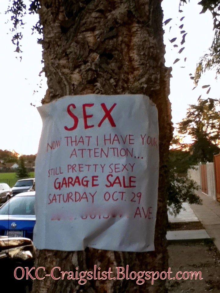 garage sale sign of the week made ya look okc
