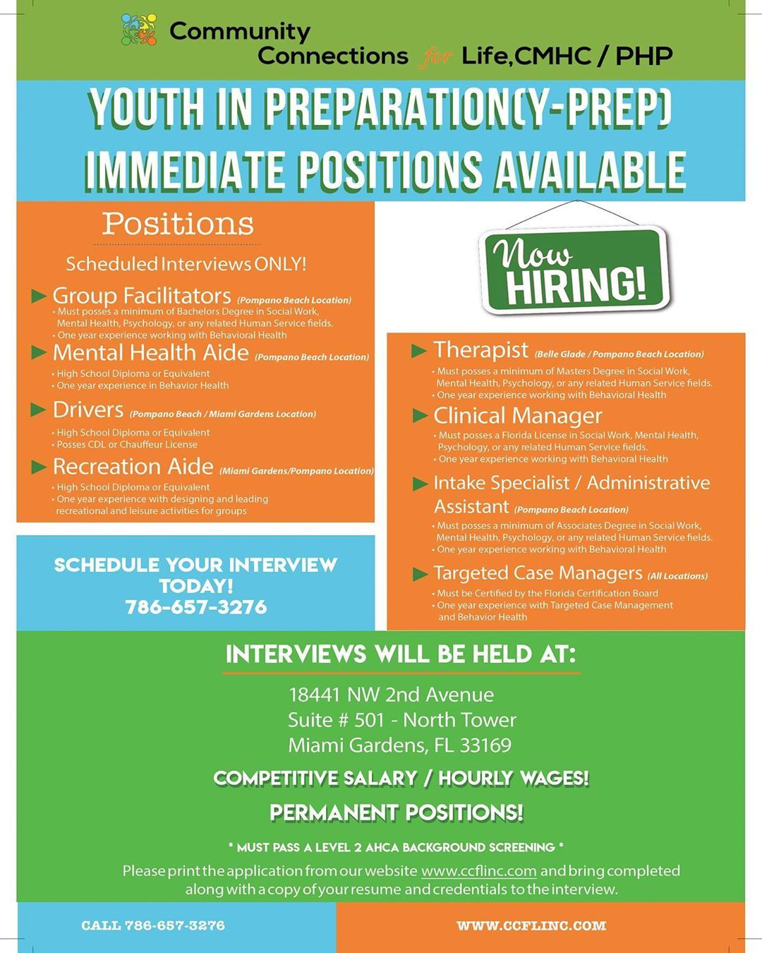 We are now Hiring! Please feel free to print the