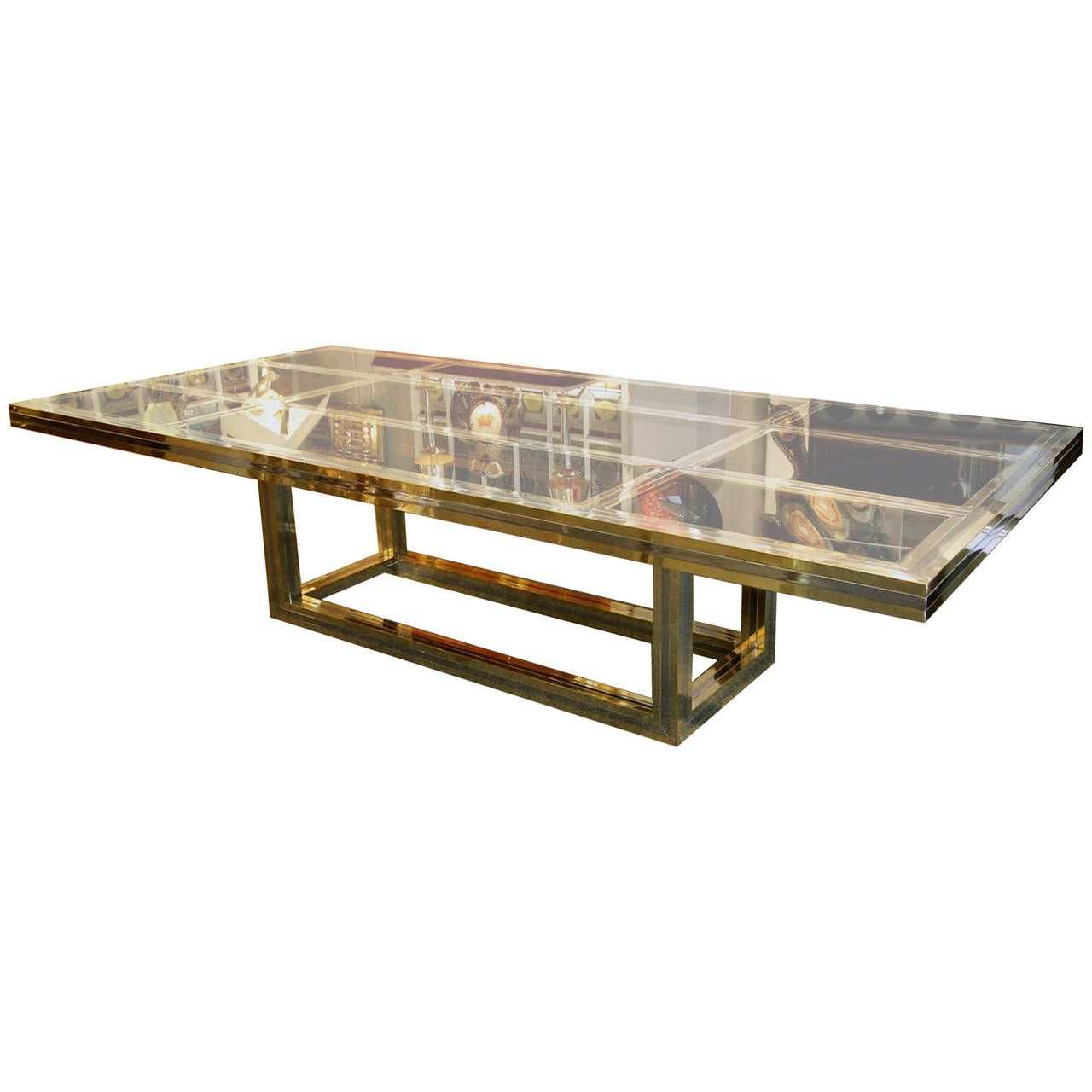 Very Chic and Large Dining Table by Romeo Rega, Italy, 1970 | From a unique collection of antique and modern dining room tables at https://www.1stdibs.com/furniture/tables/dining-room-tables/