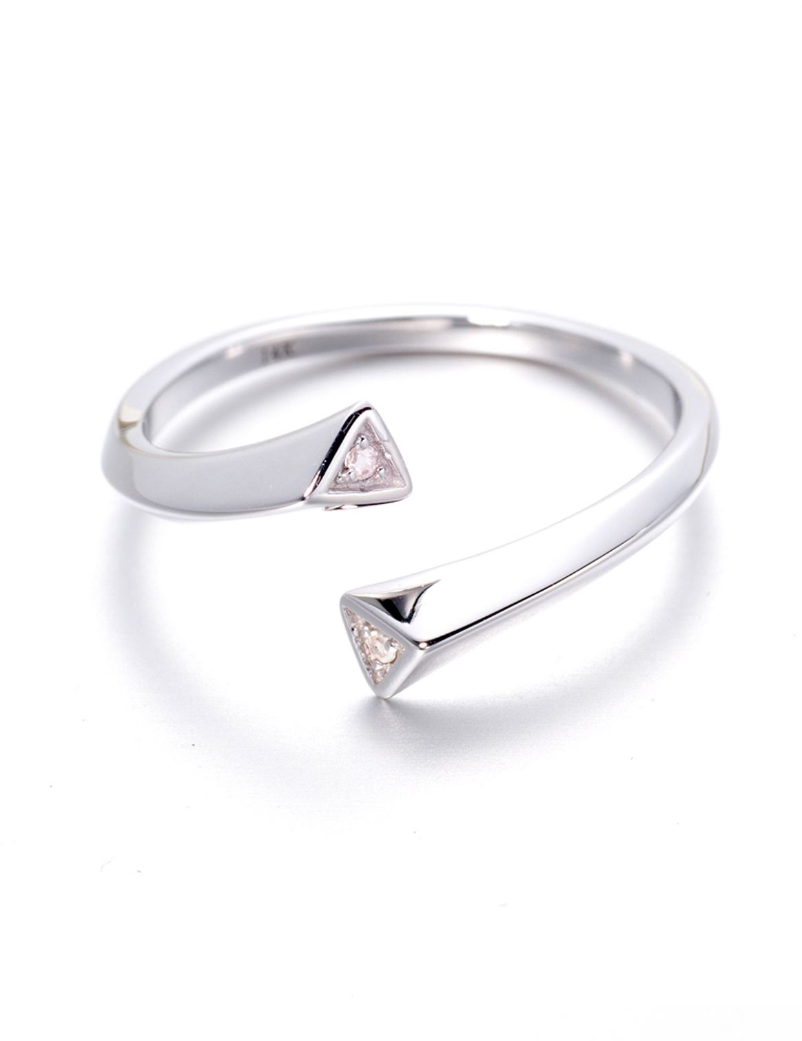 1870ade4e ... ring for women. Minimalist 14k white gold band with dioamonds by Majade