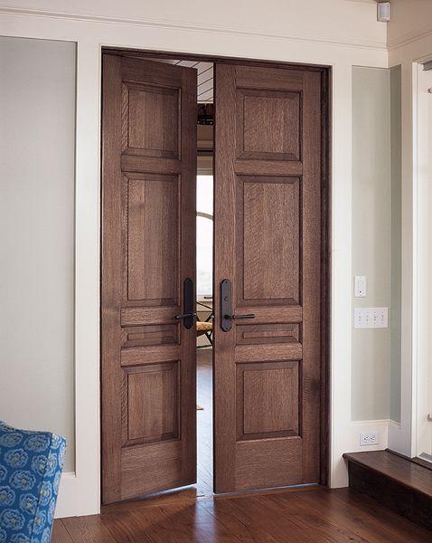 Quarter Sawn White Oak 4 Panel Doors With Custom Layout
