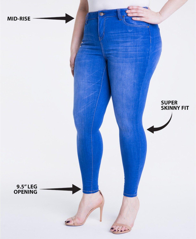 d7b5da35261 Celebrity Pink Trendy Plus Size Infinite Stretch Dawson Super-Skinny Jeans  Plus Sizes - Jeans - Macy s