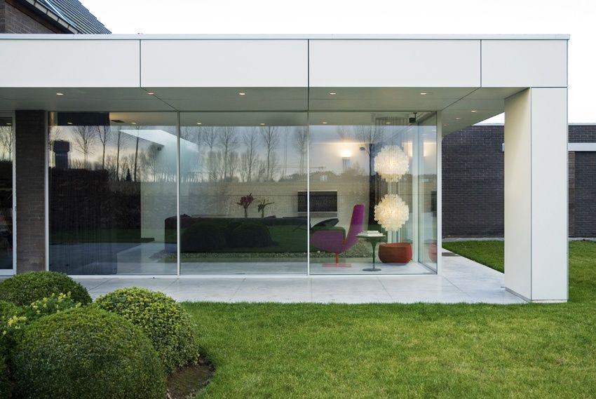 Prachtige glasshouse design veranda aluminium constructie