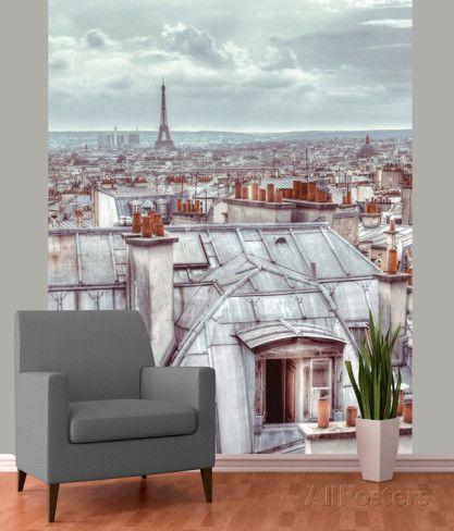 paris skyline wallpaper mural paris horizon paris et. Black Bedroom Furniture Sets. Home Design Ideas