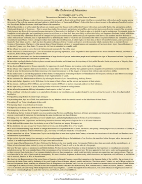 The Declaration Of Independence Has Been Fit Onto One Page In This Printable Template With A Frayed Parchm Declaration Of Independence Declaration Independence