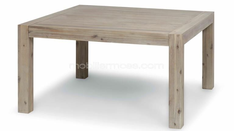 table carree bois massif. Black Bedroom Furniture Sets. Home Design Ideas