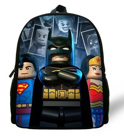Bags 12 Backpack Boys Batman Cartoon Inch Mochila School Children ONm8nwy0v