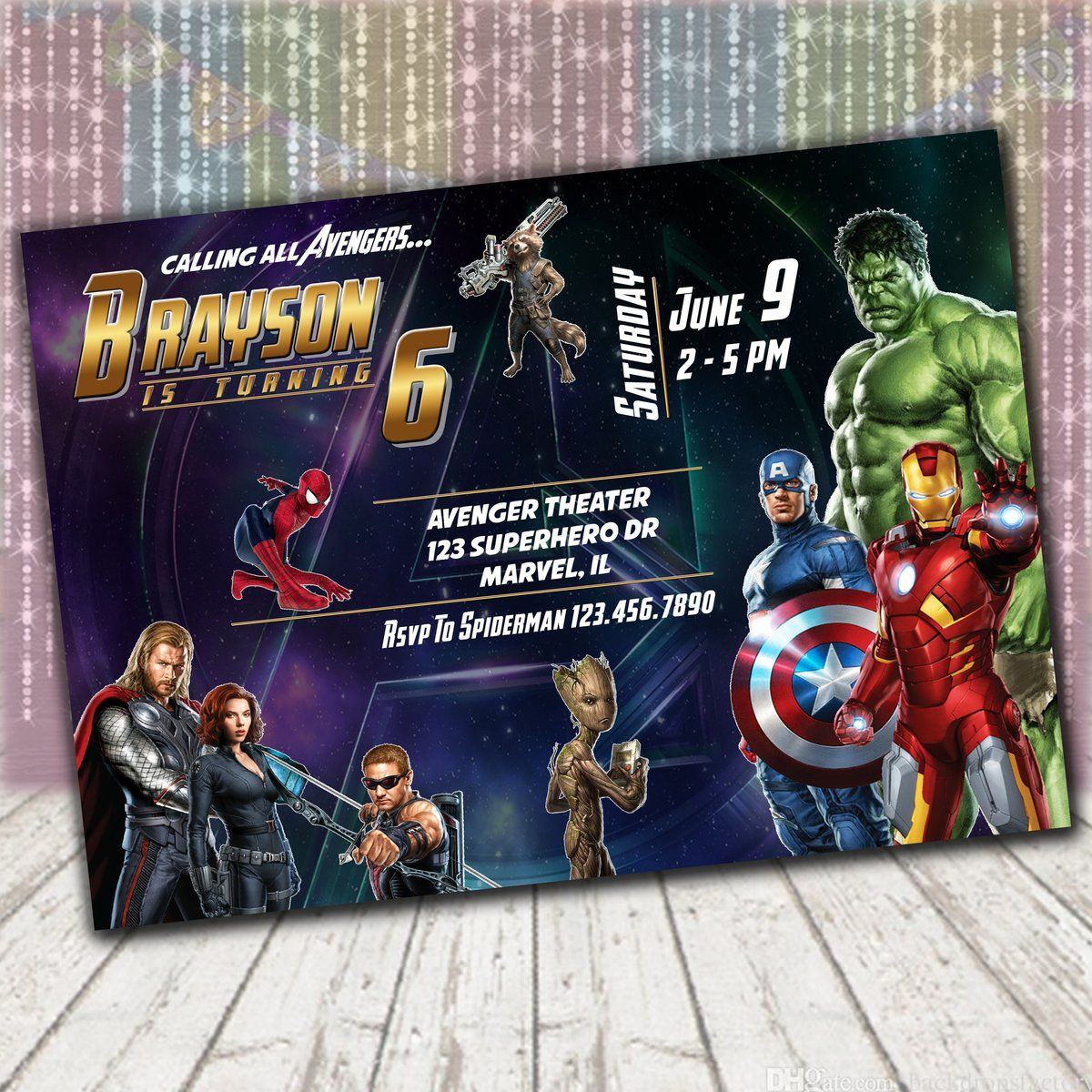 avengers invitation  superhero invitations avengers