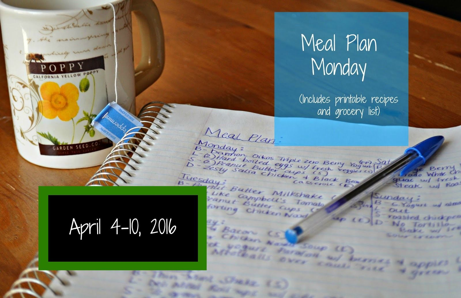 Darcie's Dishes: Meal Plan Monday: 4/4-4/10/16
