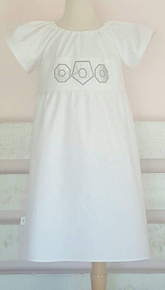 Size 7 8 Star Wars Princess Leia Inspired Peasant Dress S