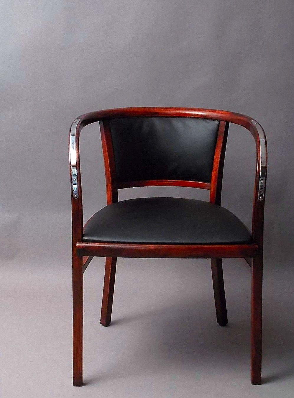 thonet otto wagner postsparkassen sessel bugholz jugendstil stuhl leder ebay joinery. Black Bedroom Furniture Sets. Home Design Ideas