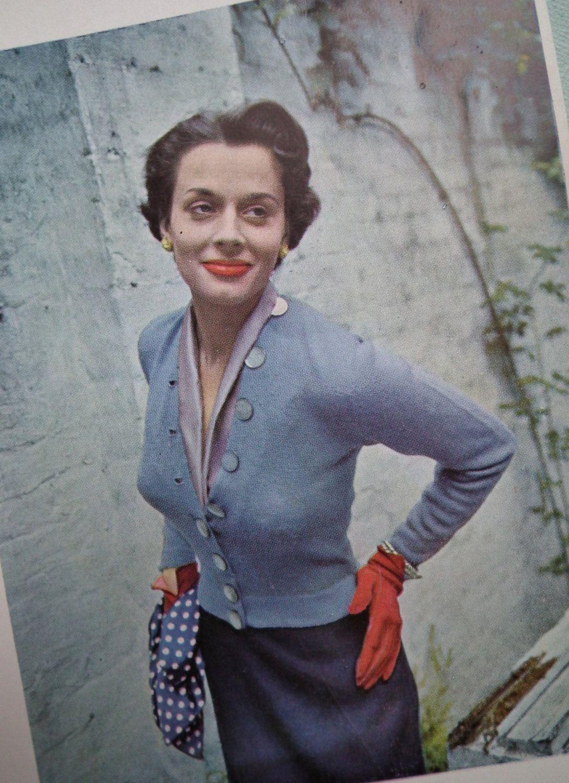 f4ca467634df34 VOGUE Knitting Book No. 35 1949 - Vintage Knitting Patterns 1940s original  patterns 40s Womens.  60.00