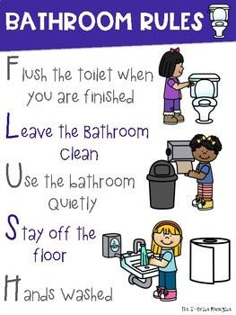 Bathroom Rules Poster ~BOYS and GIRLS signs included ...