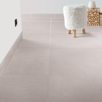 carrelage sol et mur sable effet béton blackpool l.60 x l.60 cm ... - Carrelage Salle De Bain Effet Beton