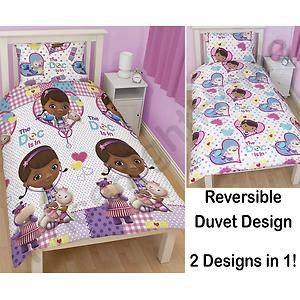 Doc McStuffins Patch Duvet Quilt Cover 2 In 1 Reversible Disney Junior