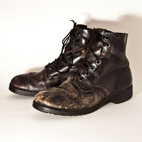 Mens leather boots, Vintage boots, Boots