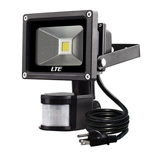 Motion Sensor Flood Light Lte 10w Waterproof Pir Sensor Security Led Lights 6000k 760 Lumen 60w Halogen Waterproof Led Lights Led Flood Lights Flood Lights