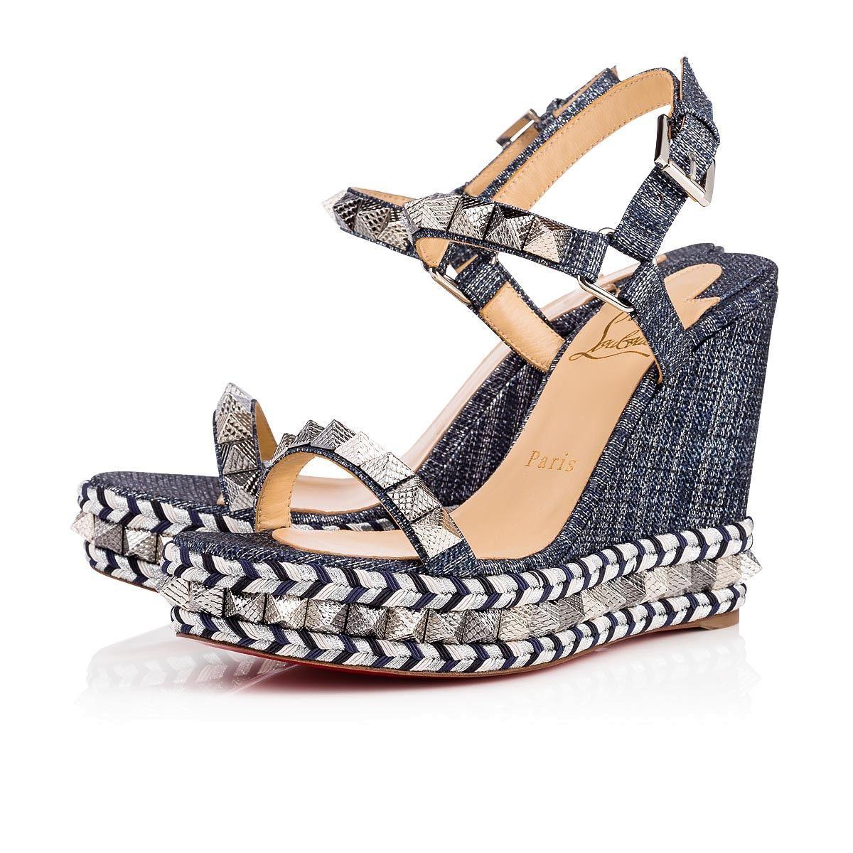 fb512fa581f Shoes - Pyraclou Lame Lux - Christian Louboutin