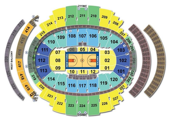 Madison Square Garden Seating Chart Basketball Seating Charts