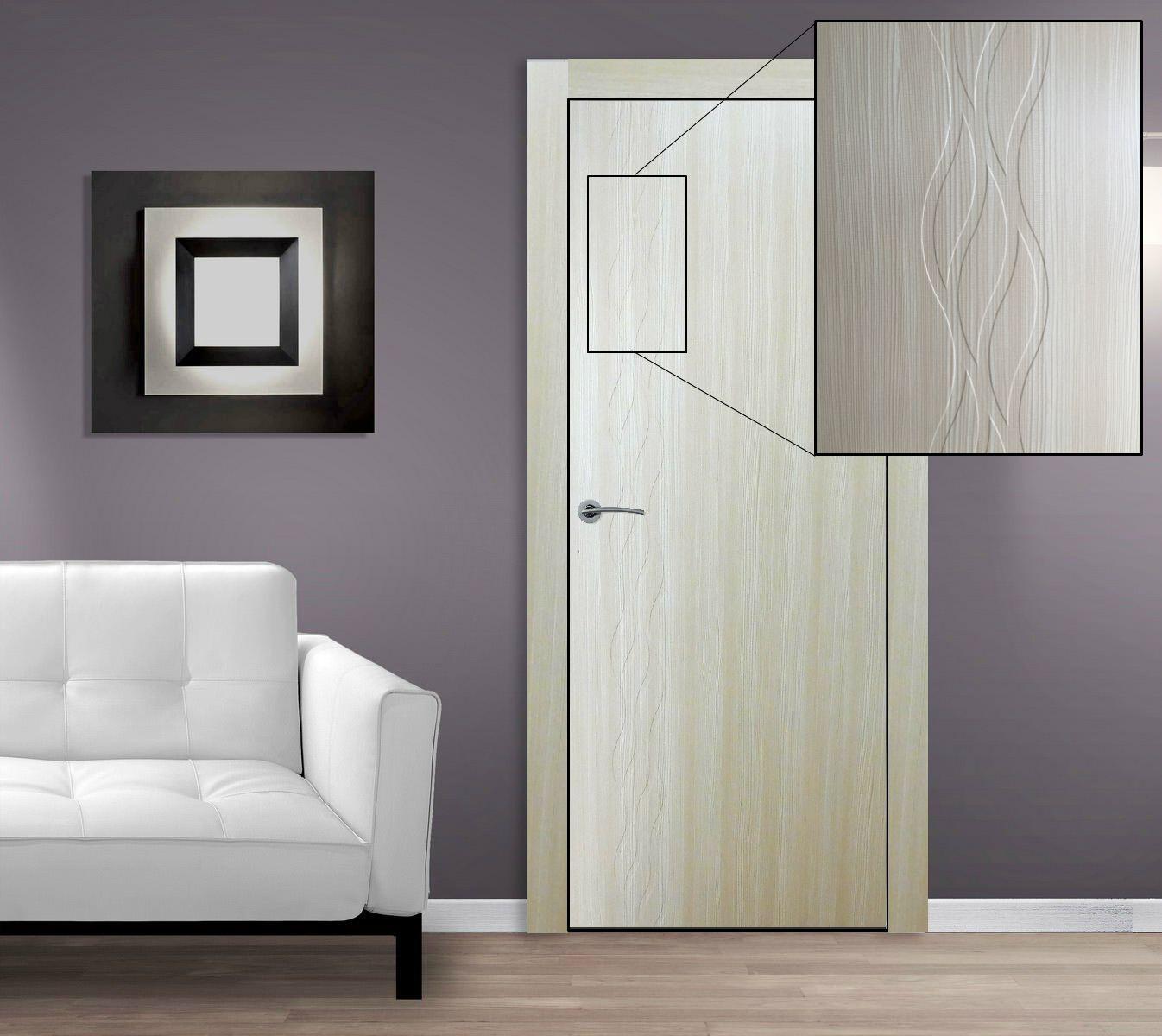 $199.00 Seville Contemporary Interior Door Cedar Finish w/Embossed ...