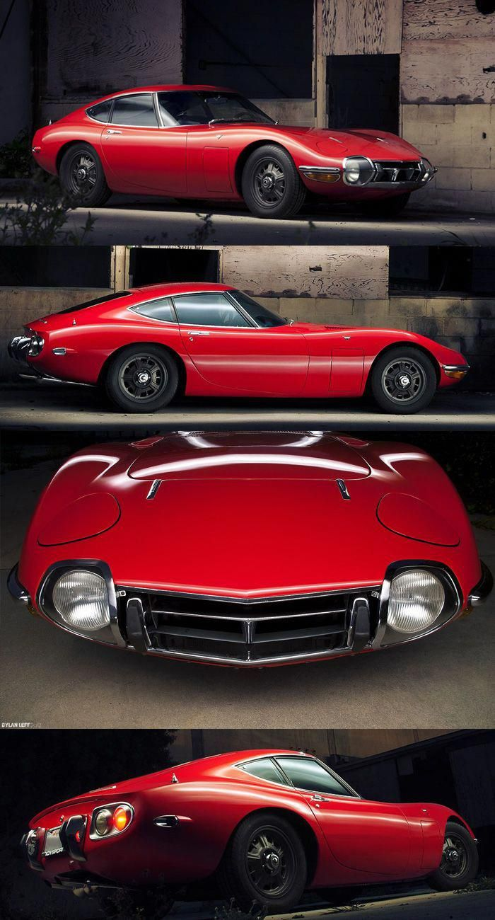 1968 Toyota 2000GT Red Toyotaclassiccars ヴィンテージカー, すごい車