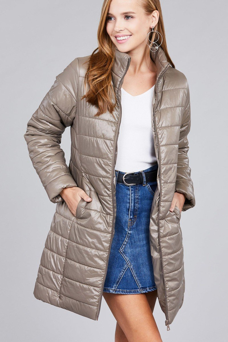 d44d876d428 Long sleeve quilted long padding jacket #quality #value #fashion #plus  #jewelry #sale #clothes #beauty #accessories #cute