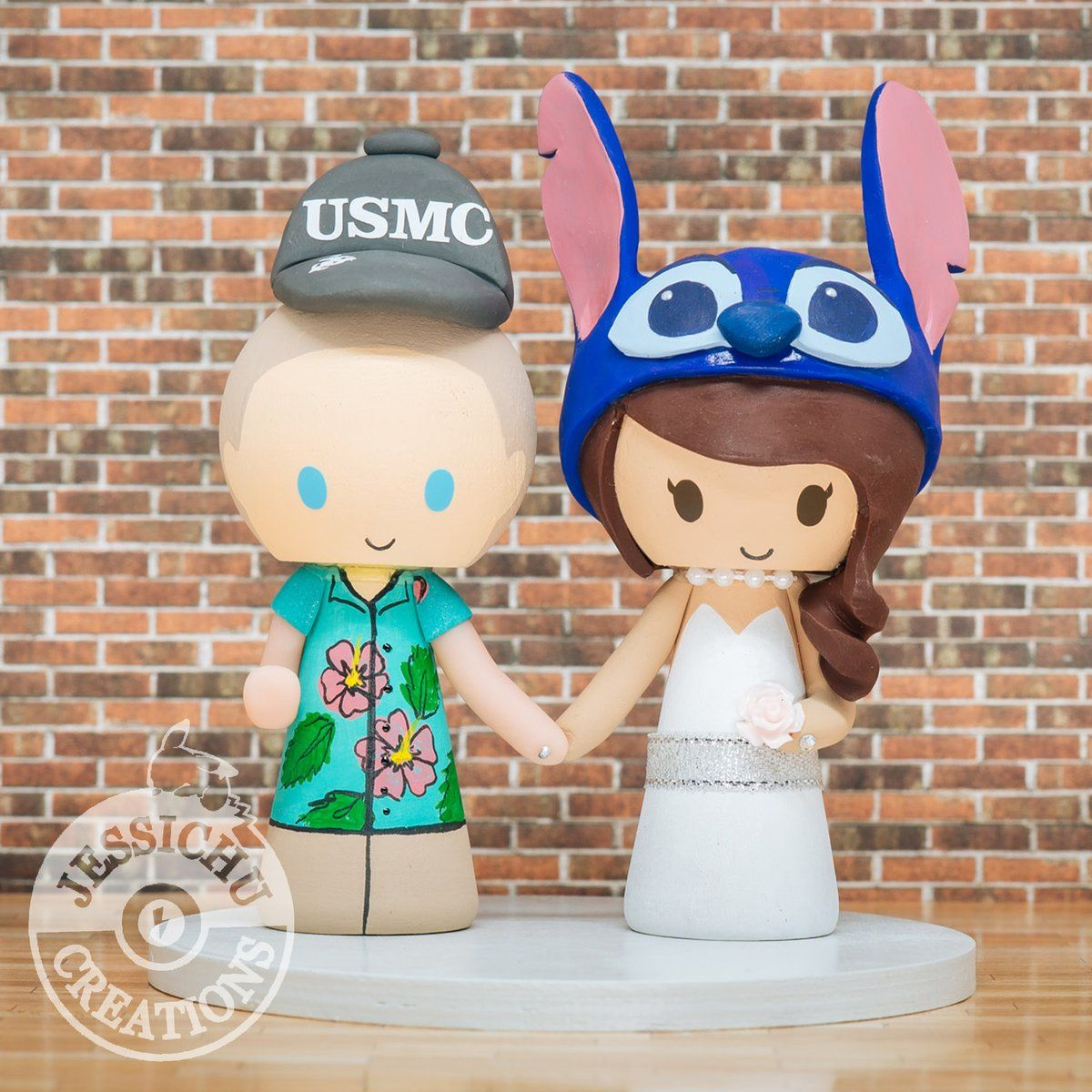 Hawaiian USMC Groom & Stitch Bride