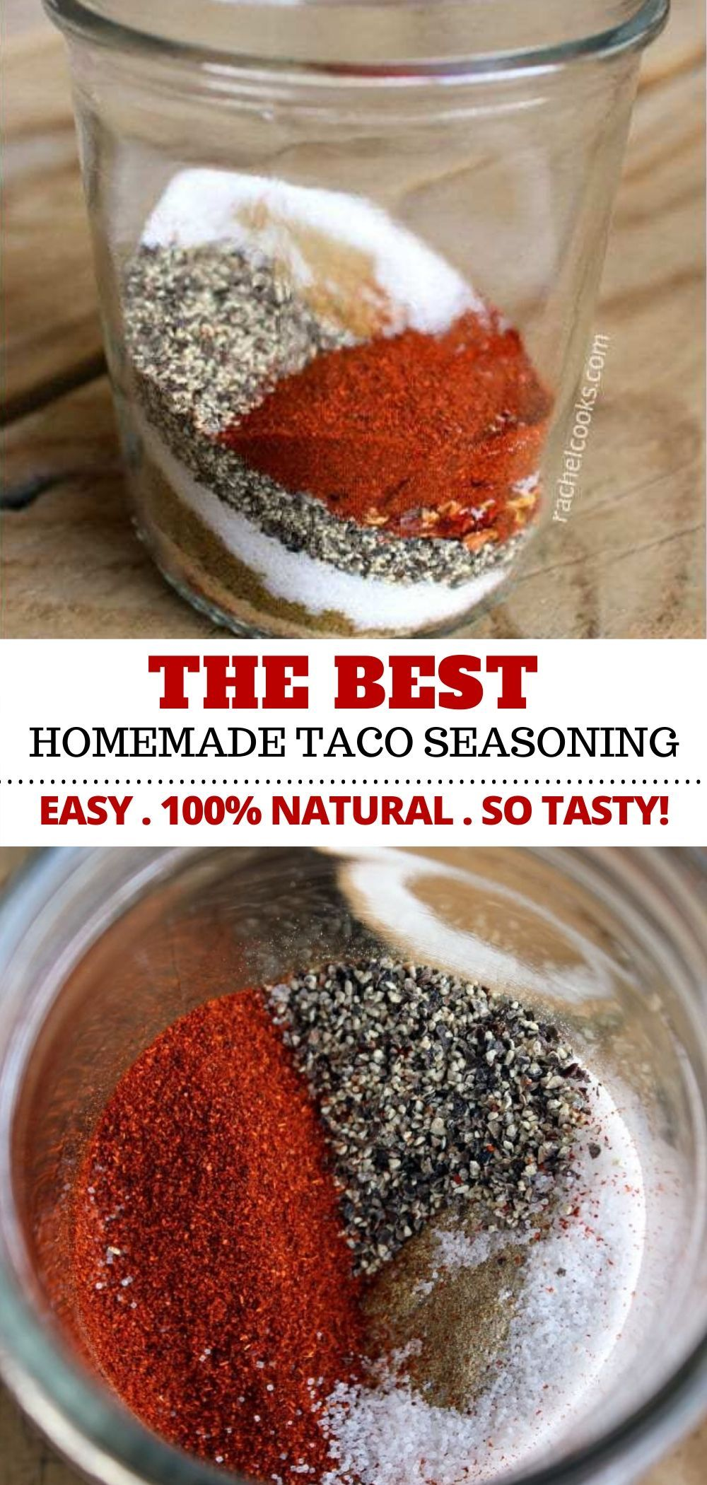 Taco Seasoning Recipe - Ditch the Packet for GOOD! - with VIDEO #homemadeseasonings
