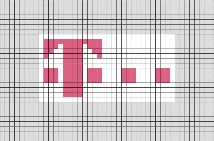 Deutsche Telekom Pixel Art Pixel Art Pixel Art Design Lego Art
