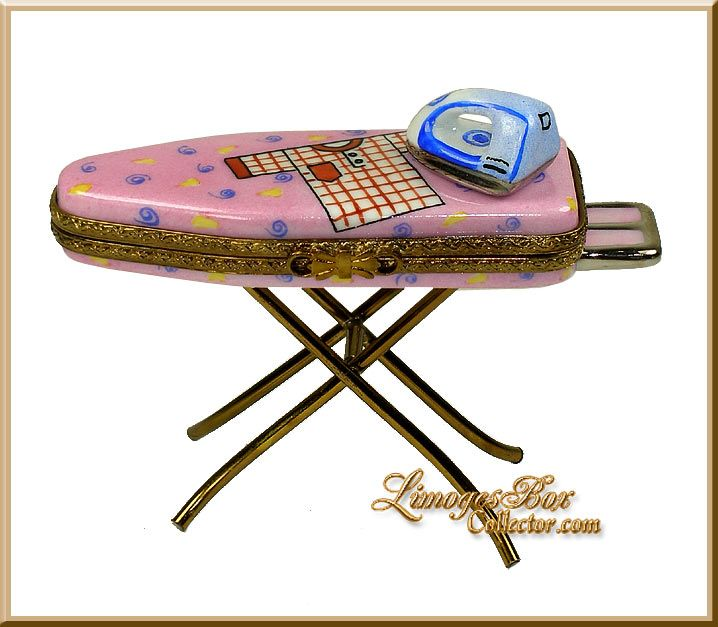 Ironing Board With Iron Limoges Box (Beauchamp)