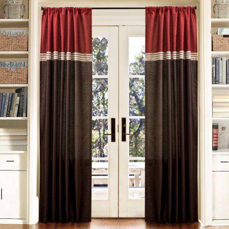 Perfect Terra Merlot/Chocolate Window Curtains, Pair, 54 Inch X 84 Inch, Brown