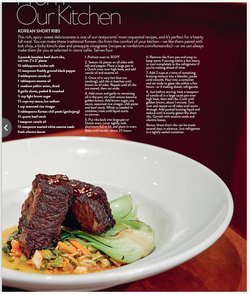 Nordstrom Blue Stove S Korean Short Ribs Recipe Hearty Fall Meal Recipes Beef Recipes