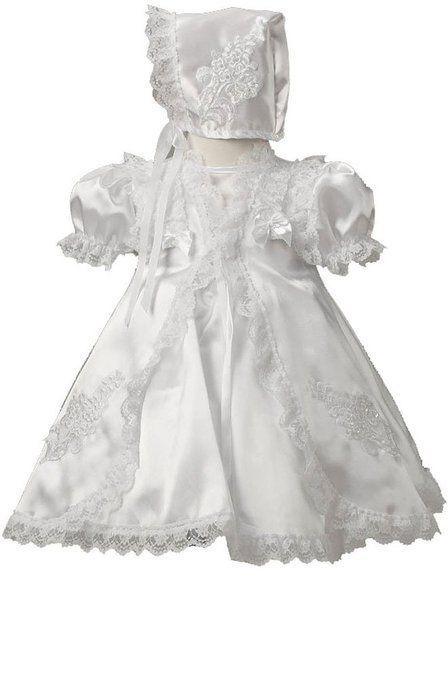 KID Collection White Infant Flower Girl Christening Dress Size M ...