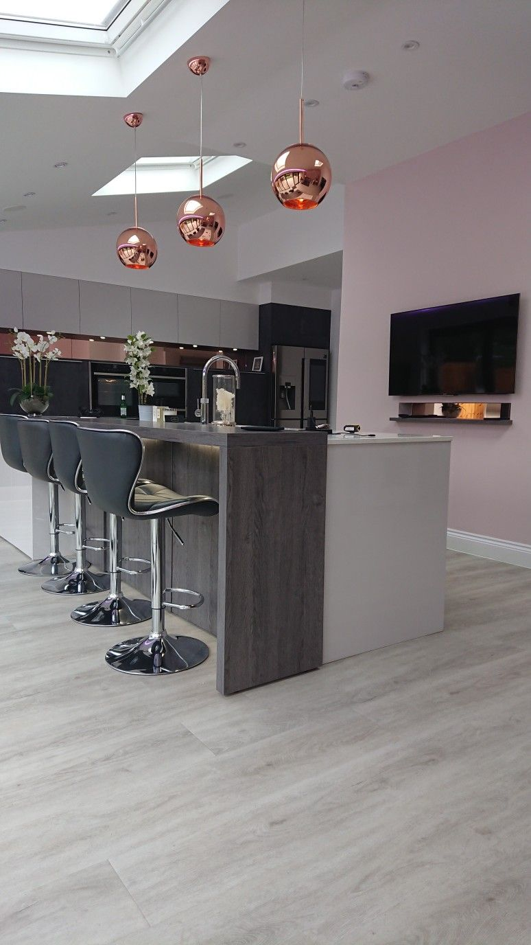 Best Rose Gold Grey White And Blush Kitchen Gold Kitchen 400 x 300