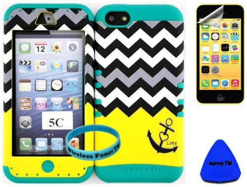 Wireless Fones TM Super Compact Yellow Block Anchor Chevron on Teal Cover Case For Iphone 5C LITE (Included: Wristband, Pry Tool and Screen Protector Exclusively By Wirelessfones TM) wireless fones http://www.amazon.com/dp/B00JS4CM4Q/ref=cm_sw_r_pi_dp_BRi7wb1DTDBC8