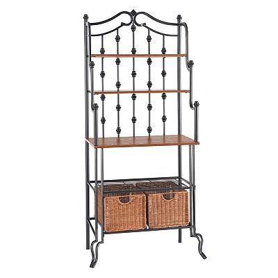 Saint Pierre Baker S Rack Bakers Rack Storage Baskets Wood And