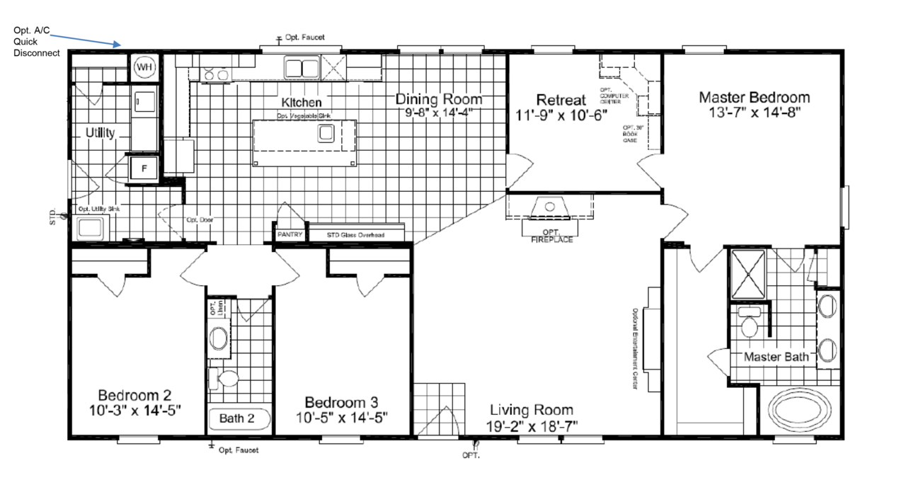 Floor Plan The Super Saver Pecan Valley II SA P