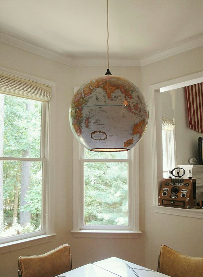 World map light -- might like this one even better than the half globe  version