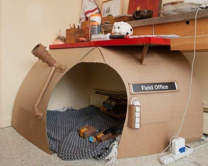 Comment fabriquer une cabane en carton tuto et plusieurs mod les b b pinterest - Fabrication maison en carton ...