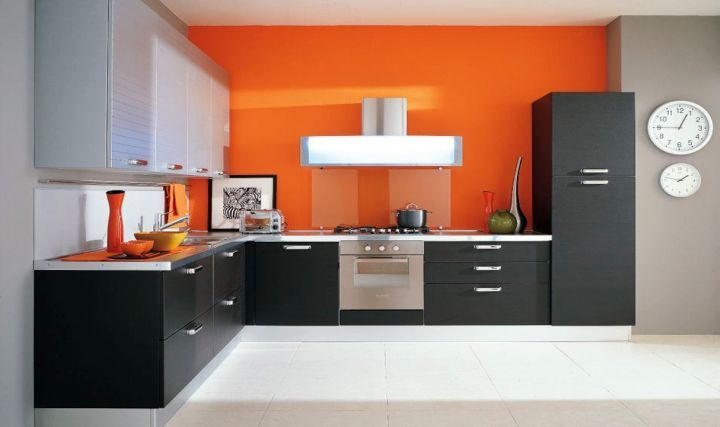 modern modular kitchen designs. Modern Modular Kitchen In Black And Orange  Farah Pinterest