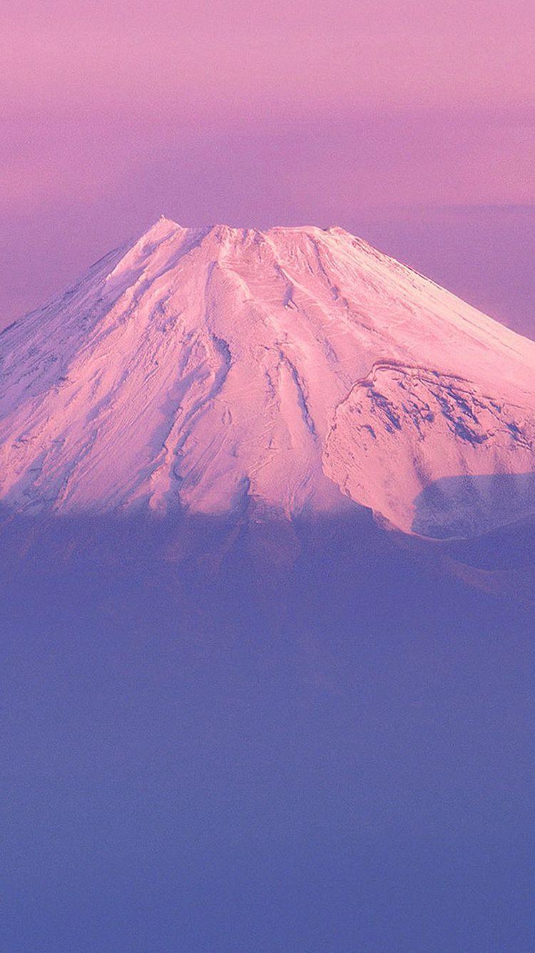 Fujiyama Japanese Mountain Purple Sky iPhone 6 Wallpaper