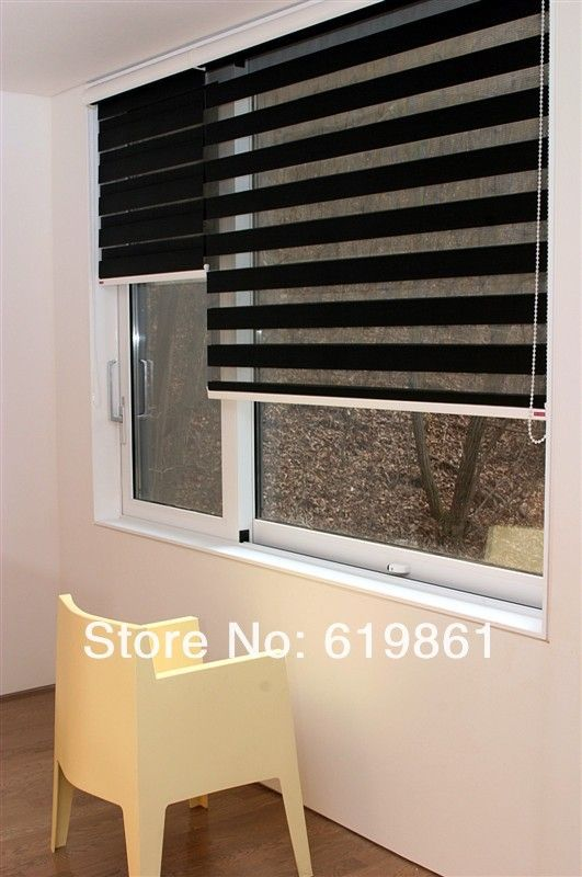 Popular Zebra Blind Finished Product Double Layer Roller Blinds