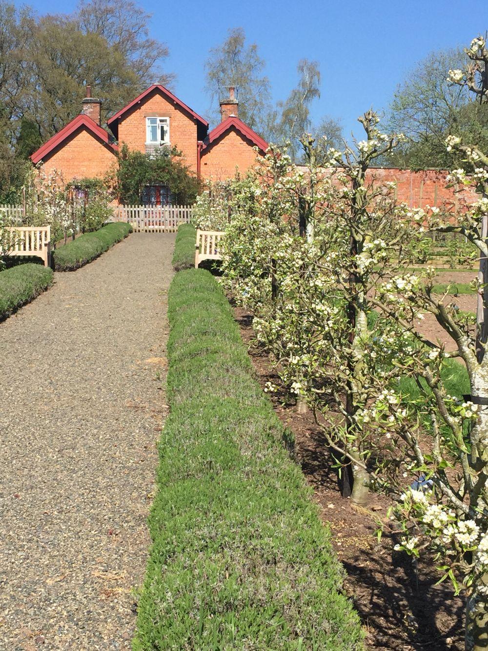 Sugnall Walled Garden Ecclesham Staffs. Recreation of a