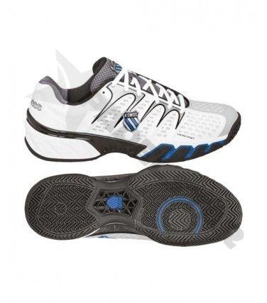 K Swiss Bigshot 2 Clay Blanca Azul Zapatillas Calzas Padel