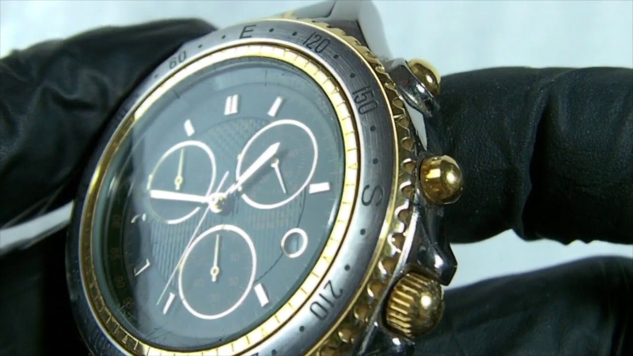 Accurist green gold chrono watch review model 481000