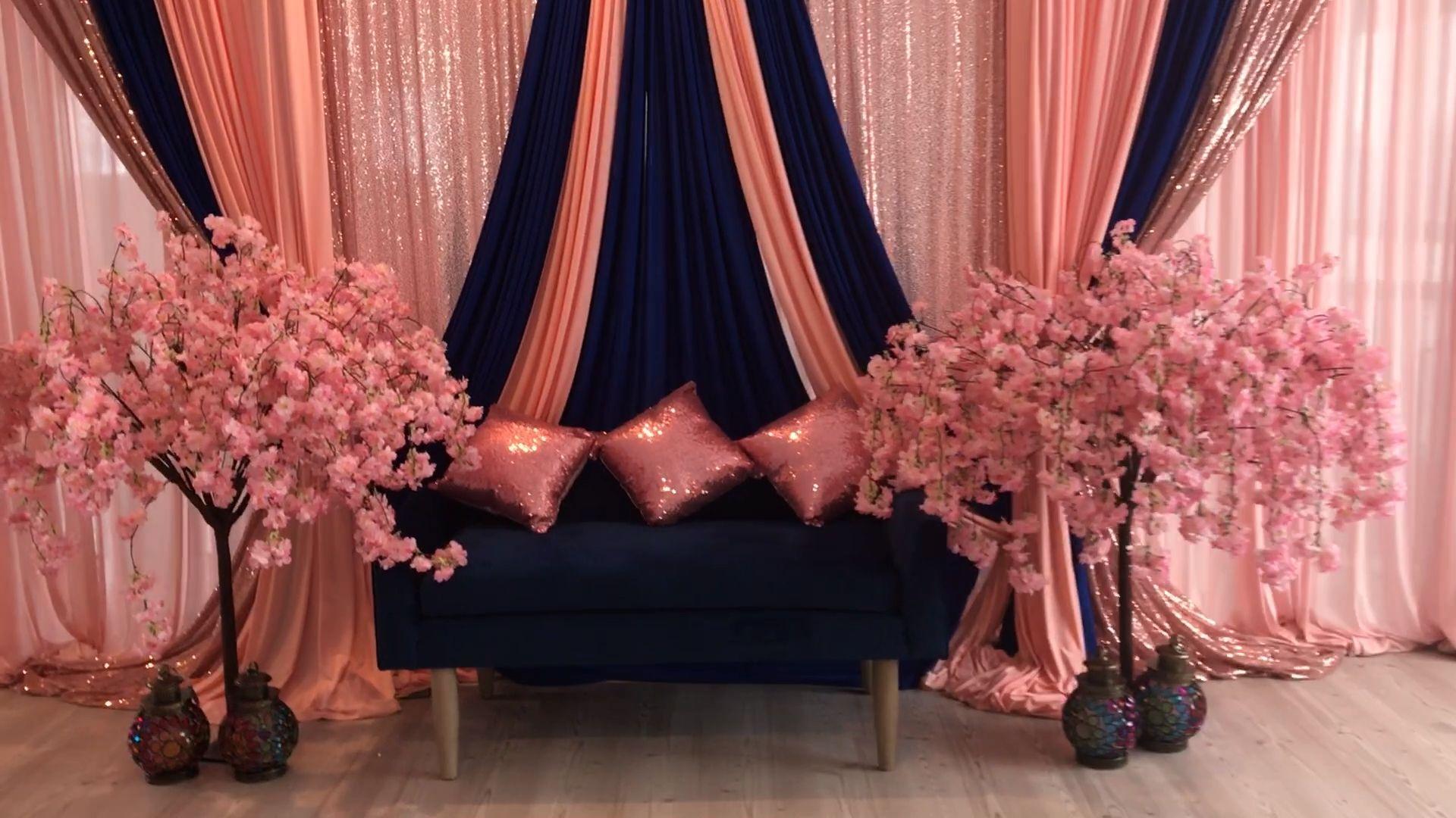 DIY- stage Decor #backdrop#decor #diy #stage in 2020 | Diy wedding  backdrop, Wedding backdrop design, Stage decorations