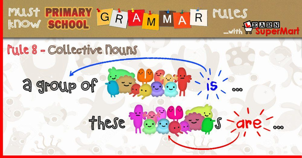 Subject Verb Agreement For Collective Nouns Primary School Grammer