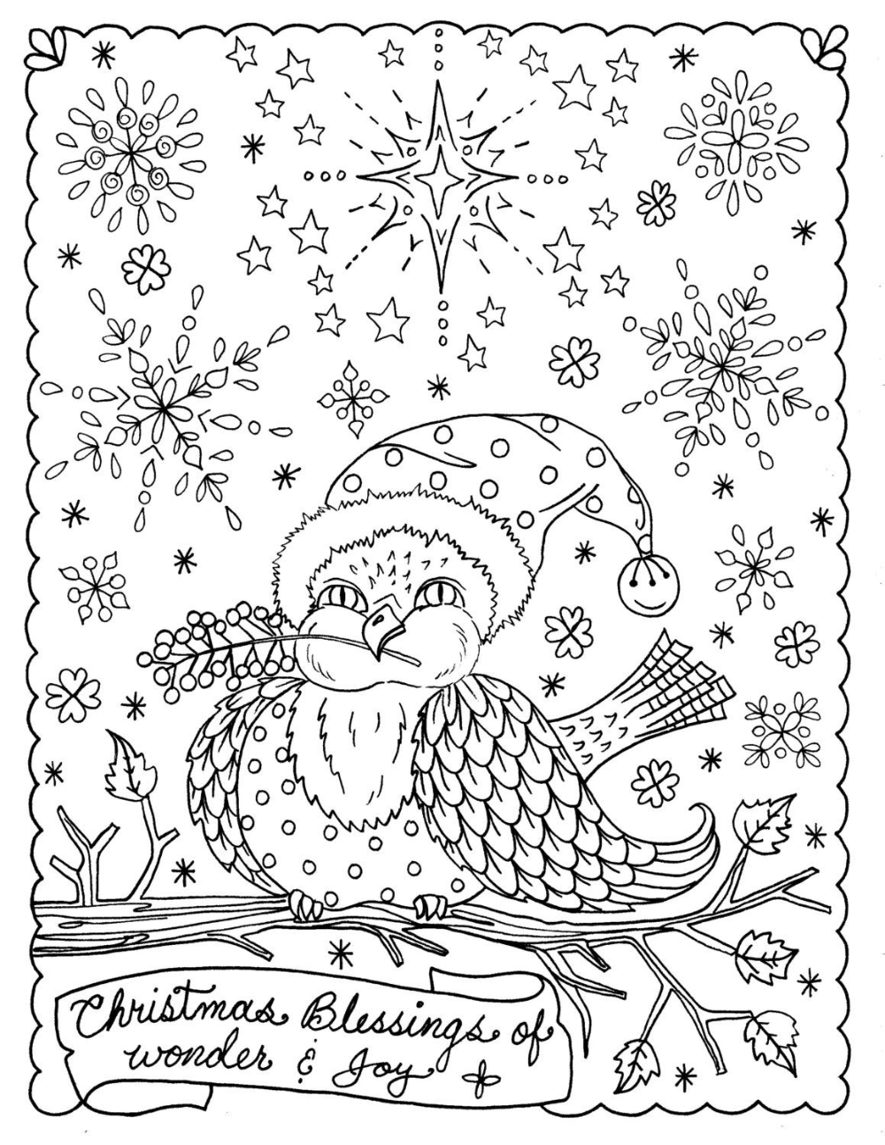 5 pagina's van Kerstmis kleuren christelijke geschriften