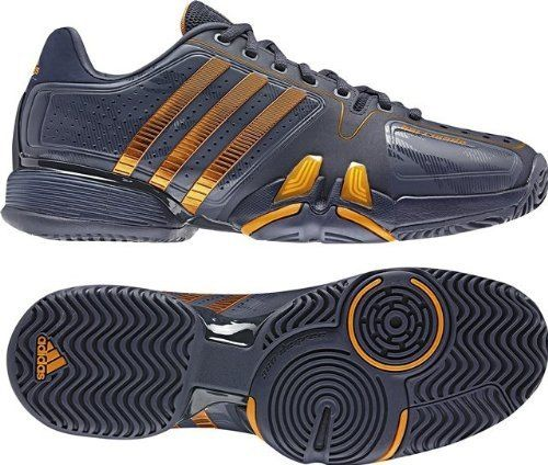 best service b8fc6 6abc4 Adidas Shoes Djokovic Adidas AdiPower Barricade 7 mens tennis shoes (urban  sky) leather rubber sole Synthetic leather upper for light weight and  durability