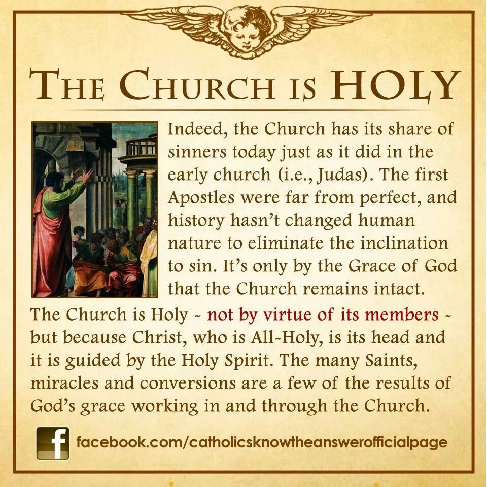 One, HOLY, Catholic, Apostolic - the four marks of the Church ...